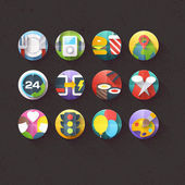 Flat Icons for mobile and web applications — Stockvektor