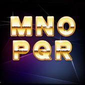 Alphabet form M to R — Vecteur
