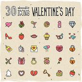 Iconos de San Valentín — Vector de stock