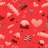 Seamless Valentine's Day Pattern — Stock Vector