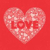 LOVE Valentines Day Card — Διανυσματικό Αρχείο