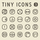 Tiny Line Icons for web — Stock Vector