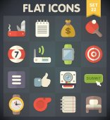 Universal Flat Icons for Web — Stock Vector