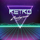 Retro Sci-Fi Background — Stock Vector