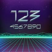 Futurism Geometric Numbers — Stock Vector