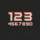 Retro Futuristic Numbers — Stock Vector