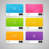 Colorful Gift Cards with prices — Wektor stockowy