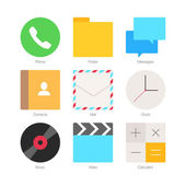 Flat Icons for mobile phones — Stock Vector