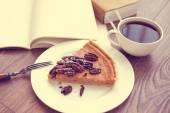Pecan Cake — Stock Photo