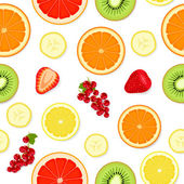 Seamless pattern with fruit and berries — Stock Vector