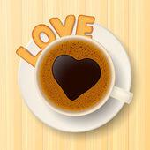 Coffee cup, cookies and love — Vecteur