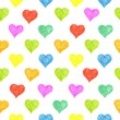 Seamless pattern with colored hearts — Stock Photo #62174681