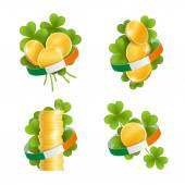 Set of decorative elements for Saint Patrick's Day — Stock Photo