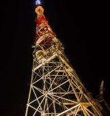 Broadcasting tower — Stock Photo