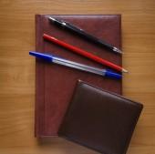 Lápis e caderno — Fotografia Stock