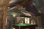 Interior Billiard — Stock fotografie