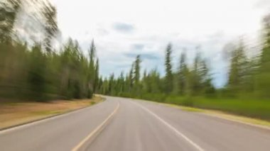 Driving on the road, Oregon — Vídeo stock