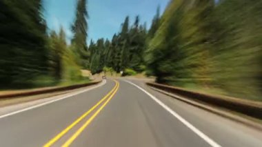 Driving on the road, Oregon — Stok video