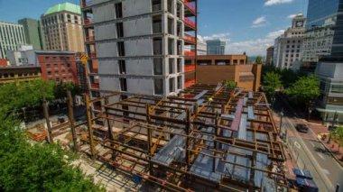 Building under construction in Portland — Vidéo