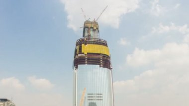 Seoul City Lotte World Tower Construction — Stock video