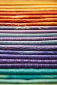 Heap of colorful fabric — Stock Photo