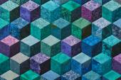 Detail of quilt sewn from rhombuses — Stock Photo