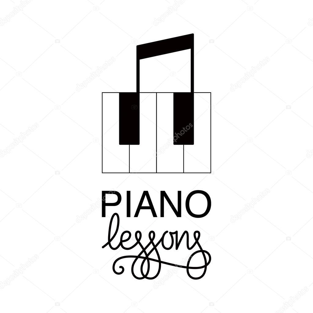 piyano dersleri logo � stok vekt246r 169 barkarola 113945576