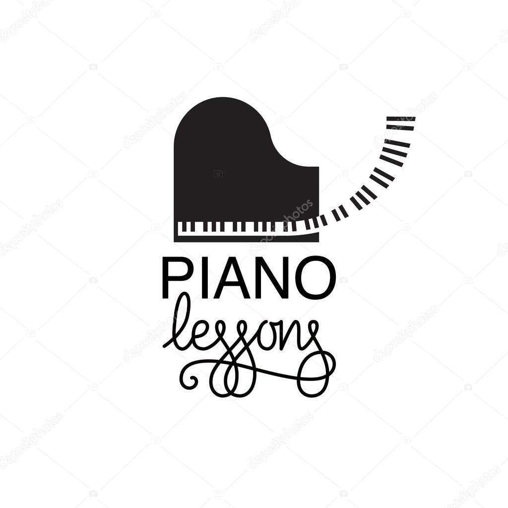 piano lessons logo � stock vector 169 barkarola 114468072