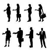 Vektor silhuett av affärsmän. — Stockvektor