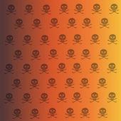 Wallpaper with skulls. — Stock Vector
