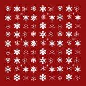 Vector image of snowflakes. — Vector de stock