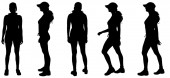 Silhouette of a women. — Stockvektor