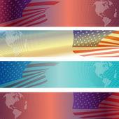 Amerikan bayrağı arka plan. — Stok Vektör