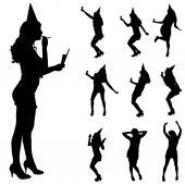Women  at the party. — Vetor de Stock