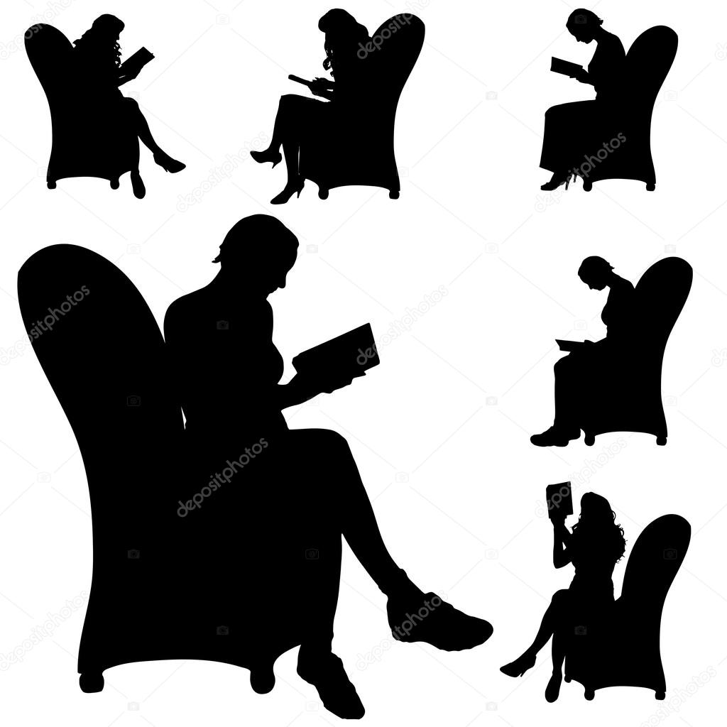 人都坐在椅子上 — 图库矢量图像08