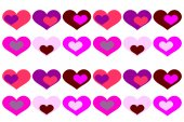 Background with colored hearts. — Stock Vector
