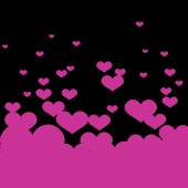 Background with pink hearts. — Stock Vector