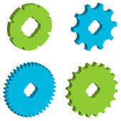Image of gears icons — Stock Vector