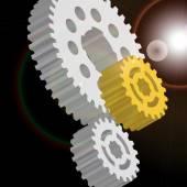 Image of gears. — Stok Vektör