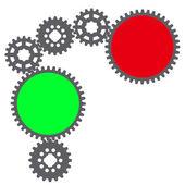 Image of gears. — Vector de stock