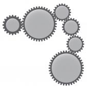 Image of gears. — Stock Vector