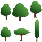 Image of a trees — Stock Vector