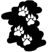 Image of paws. — Stock Vector