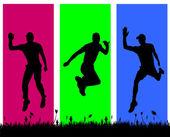 Men who jumps — Stockvektor