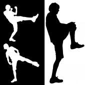 Men who practice. — Vettoriale Stock
