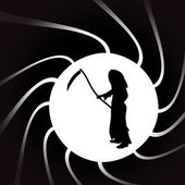 Illustration of Grim Reaper. — Stock vektor