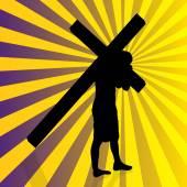 Jesus with the cross. — Stock vektor