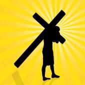 Jesus with the cross. — Stock Vector