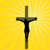 耶稣在十字架上. — 图库矢量图片