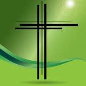 Illustration of a cross. — Stock Vector